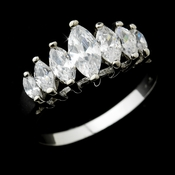 Classy Silver Clear Marquise CZ Ring 0366 **Discontinued**