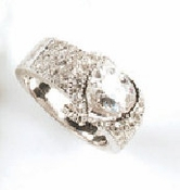 Silver Cubic Zirconia Ring RING2821