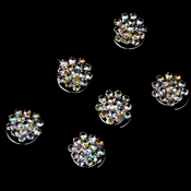 "Stunning Silver AB Rhinestone Cluster Twist-In 06 ""Temporarily Out Of Stock"""