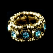 Gold Aqua Stretch Ring 464
