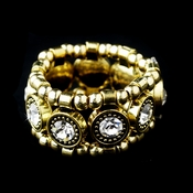 Gold Clear Stretch Ring 464