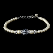 Ivory Silver with Clear Crystal Bracelet 8368