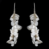 Earring 8196 White Keshi Pearls  **Only 2 Piece Left in Stock**