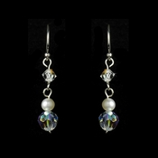 Freshwater Pearl & Swarovski Crystal Beach Bride Earrings E 8254