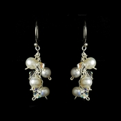 White & AB Freshwater Pearl Earrings E 8249
