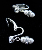 Silver & White Pearl Earrings E 217