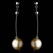 Modern Champagne Pearl Dangle Earrings 8358