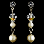 Earring 8365 Silver Ivory AB