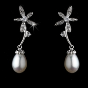 Antique Silver Freshwater Pearl Earring E 2031