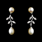 Antique Silver White Pearl Earring 6512