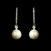 Antique Silver FW Pearl Earrings E 5173