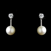 Antique Silver Freshwater Pearl Earring E 2041