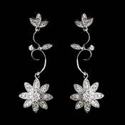 Antique Silver Clear Earring E1774