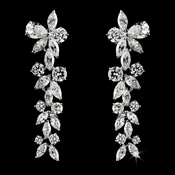 Beautiful Antique Dangling Cubic Zirconium CZ Earrings E 4031