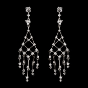 Antique Silver Clear Cubic Zirconia Earring E 2156