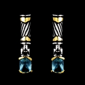 Atnique Silver Aqua Earring E 4082