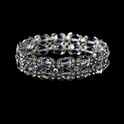 Eye Catching Irridescent Silver AB Bracelet B 917