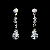 AB Crystal Bridal Earrings E 236