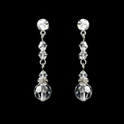 Clear Crystal Bridal Earrings E 236