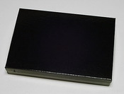 "Glossy Black Jewelry Box for Packaging Costume Jewelry Sets 8"" x 5 1/2"" x 1 1/4"""