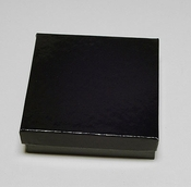 "Black Glossy Jewelry Box 3 1/2"" x 3 1/2"" x 1"""