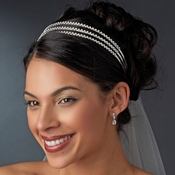 Silver Crystal Triple Band Headband HP 4093