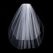 "2 Tier 25"" and 30"" Elbow Pencil Edge Bridal Veil (VP E)"