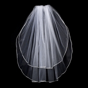 "2 Tier 25"" and 30"" Elbow Ratail Edge Bridal Veil (VR E)"