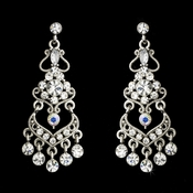 Bridal Chandelier Earring with Clear Crystals E 8415 Silver AB