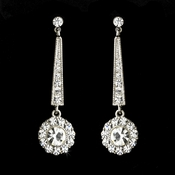 Earring 8412 Rhodium Clear