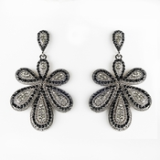 Earring 8293 Silver Black
