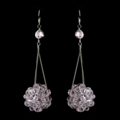 * Pink Beaded Ball Earring Set 8551