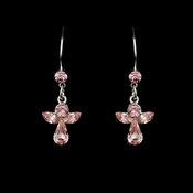 Crystal Angel Earring 8241 Pink