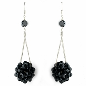 * Black Beaded Ball Earring Set 8551