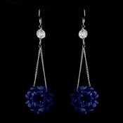 * Sapphire Beaded Ball Earring Set 8551