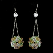* Multi Colored Beaded Ball Earring Set 8551