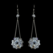 * Smoked Clear Aurora Borealis Beaded Ball Earring Set 8551