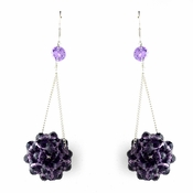 * Tanzanite Beaded Ball Earring Set 8551