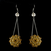 * Topaz Beaded Ball Earring Set 8551
