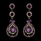 Silver Amethyst AB Earring Set 1328 * 1 Left *