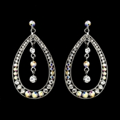 Silver Clear AB Earring Set 1331