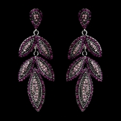 Silver Purple Earring Set 1329