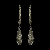 Earring 1026 Antique Silver Smoke Black Diamond***Discontinued***