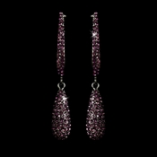 Earring 1026 Antique Silver Amethyst