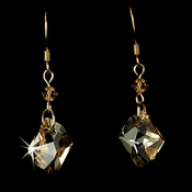 * Earring 8124 Gold Light brown