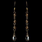 * Earring 8130 Gold Light Brown