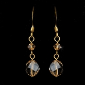 * Earring 8268 Gold Light Brown