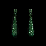 * Earring 8341 Green *** 1 Pair Left ***