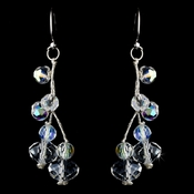 Silver Clear AB on wire Earring 8382