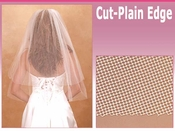 "2 Tier 30"" and 108"" Cathedral Plain Edge Bridal Veil (VC 2C)"